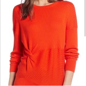 Something Navy XS Orange Sweater
